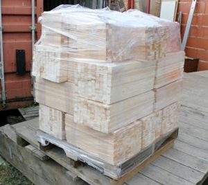 Sending goods on pallets to Finland